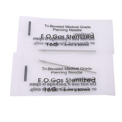 Disposable Sterile Body Piercing Needles Medical Tattoo Piercing Needles For Navel Nipple Ear Nose