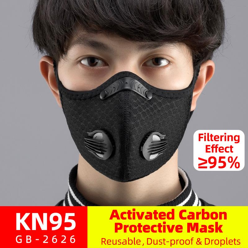 Anti-droplets Cycling Air Purifying Mouth-muffle Face Shield Fog Mouth Cover