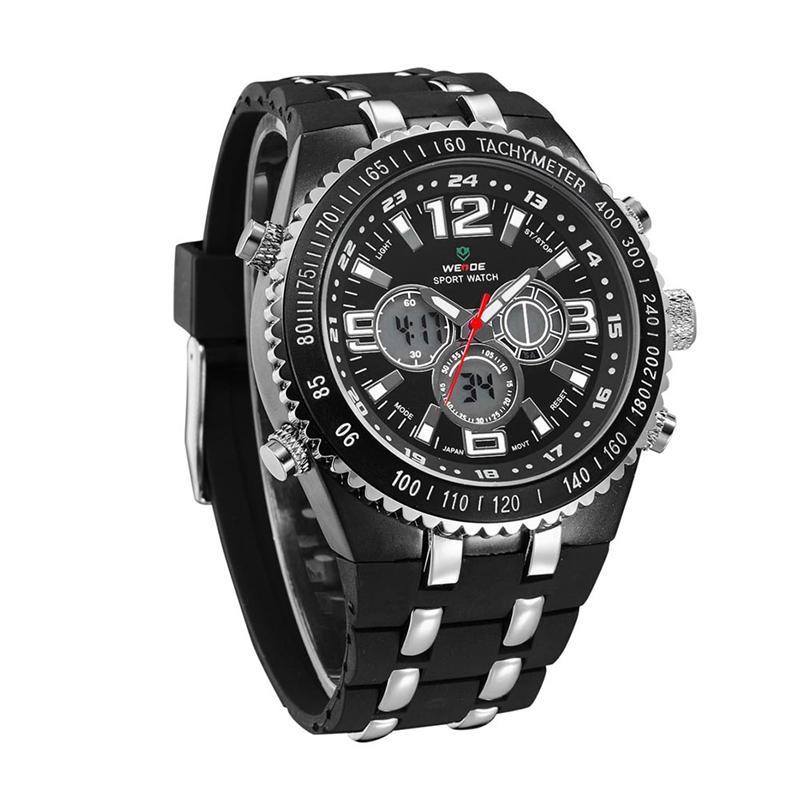 WEIDE WH-1107 мужчин привел цифровые и аналоговые кварцевые часы с ... 3e29ea323b07d