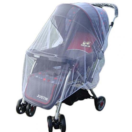 Universal Mosquito Net for Baby Strollers Insect Bug Net Shield Child Netting with Adjustable Sun Shade Against Mosquitoes UV for Infant Carriers Car Seats Cover Bassinets Cribs