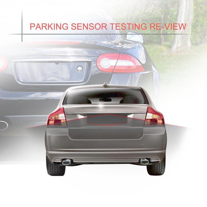 Black 4Pcs Car Parking Sensor Reversing Radar Vehicle Backup Detector System Reversing Radar Probe