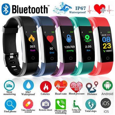Bluetooth Smart Bracelet Heart Rate Monitor Fitness Tracker