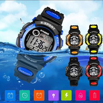 Waterproof Luminous Sport Watch Alarm Multifunction Wristwatch Gift for Student Children Kids