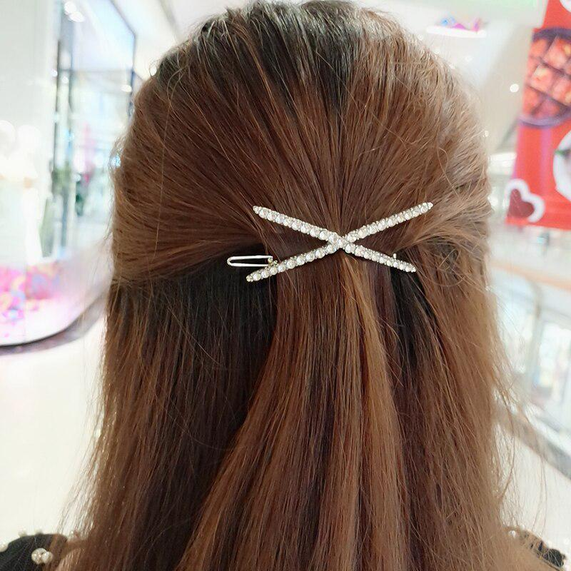 Simple Classic Color Block Hair Clip French Hair Barrette Ponytail Holder