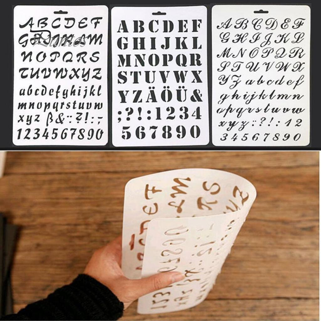Number Alphabet Drawing Color Spraying Stencils for Home Wall Painting Supplies