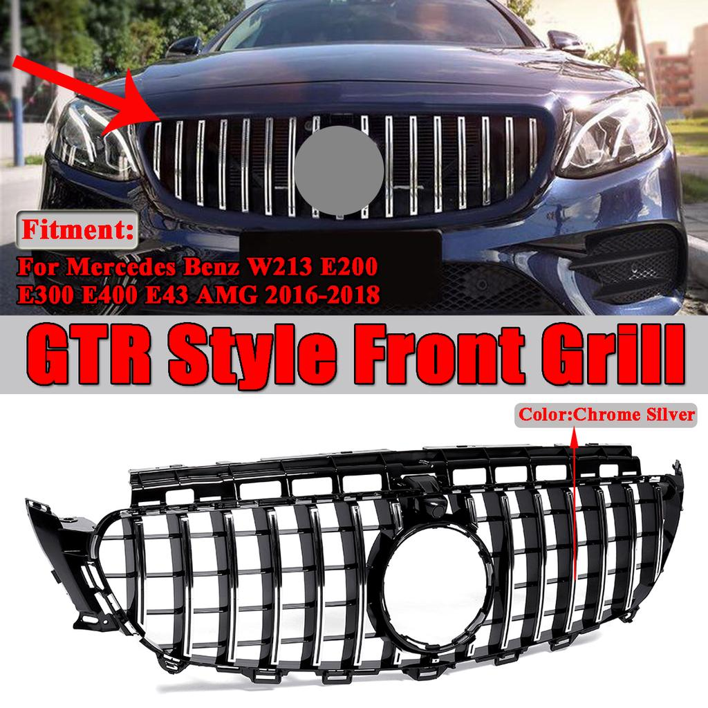 Chrome Front Grille Strip Kit trims For Mercedes-Benz X204 GLK300 250 2013-2015