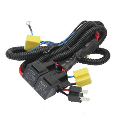 H4 9003 Wire Harness Relay Halogen Headlights Lamp Booster ... Halogen Wire Harness on