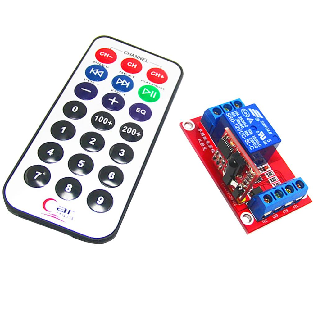 3v One Channel 1ch Ir Infrared Remote Control Switch Relay Self Lock Transmitter Integrated Circuit 1 Of 2