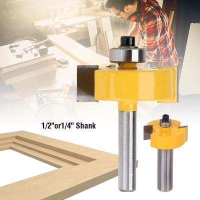 """5 DART 2/""""//50mm x 1//2/"""" Shank TCT Tungsten Twin Flute Kitchen Worktop Router Bit"""