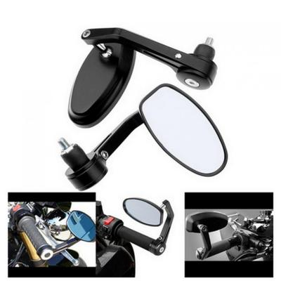 8mm 10mm Motorcycle Oval Rear View Mirrors for Honada Suzuki Cruiser Chopper Honda Yamaha kawasaki Black#1