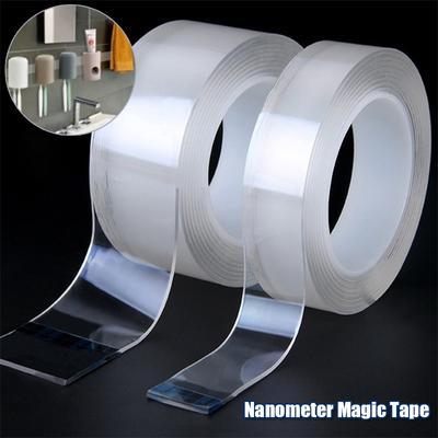 Nano Magic Tape Double Sided Tape Washable Reuse Traceless Double Sided Waterproof Adhesiva Tape