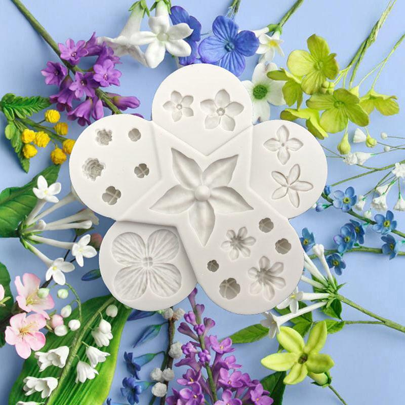 Lots Flowers Silicone Cake Mould Fondant Sugar Craft Chocolate Decorating Tools