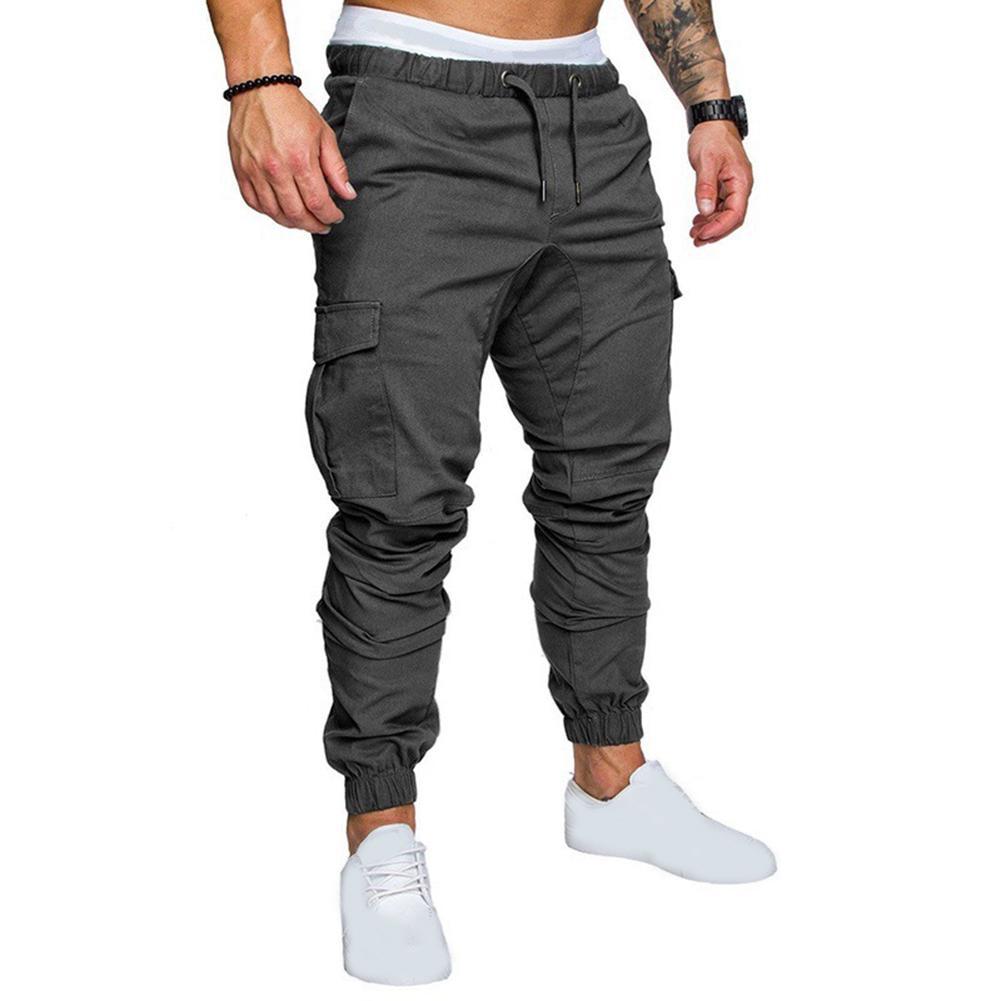 Men Sport Pants Long Trousers Tracksuit Fitness Workout Jogger Gym Sweatpants LC
