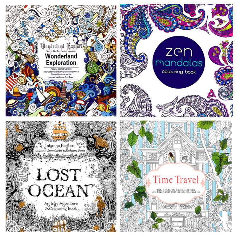 - Secret Garden Adult Decompression Hand-painted Coloring Book Mandala Lost  Ocean Coloring Book-buy At A Low Prices On Joom E-commerce Platform