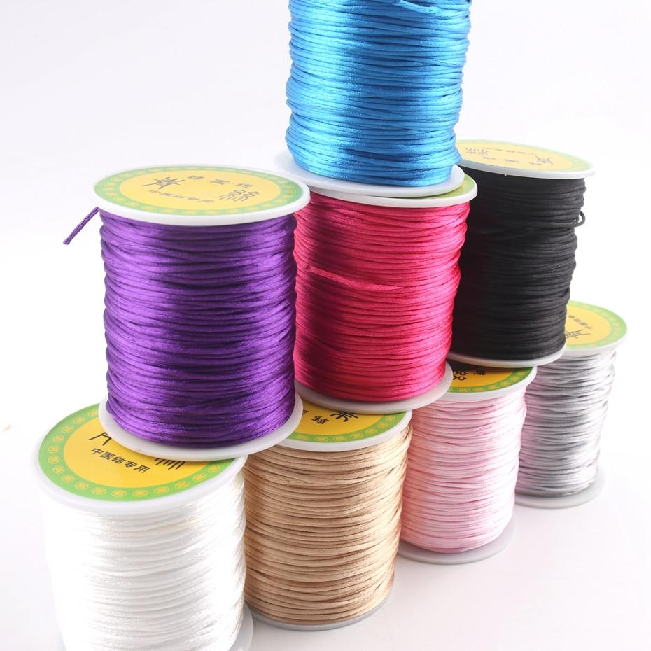 5m Baby Pink 1mm Rattail Satin Cord