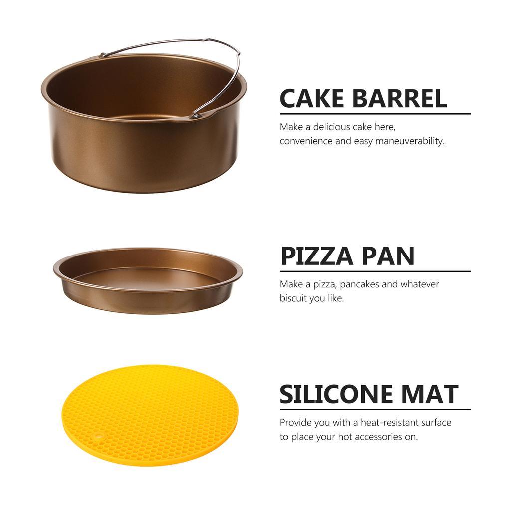 10pcs 9 Non Stick Air Fryer Accessories Set Baking Cake Pan Fit 5 3 6 8qt Buy At A Low Prices On Joom E Commerce Platform