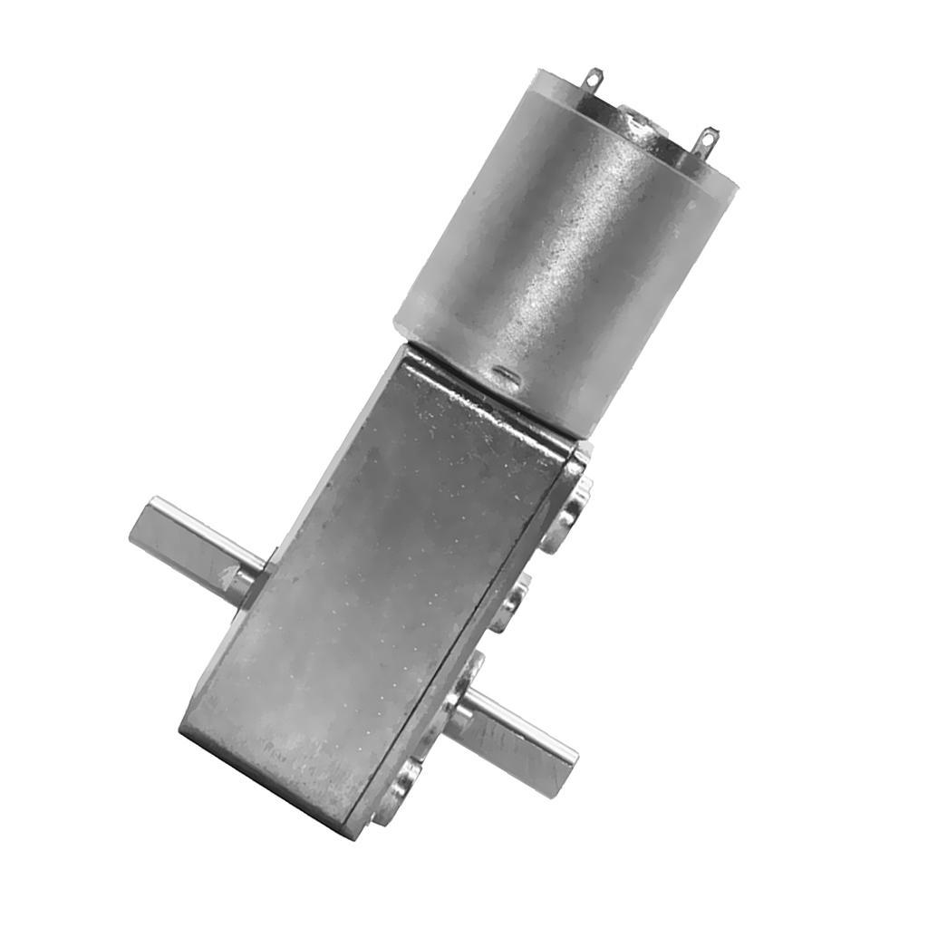 Small Turbo Worm Gear Motor With Reducer 6mm Diameter Shaft 12Vdc 260rpm