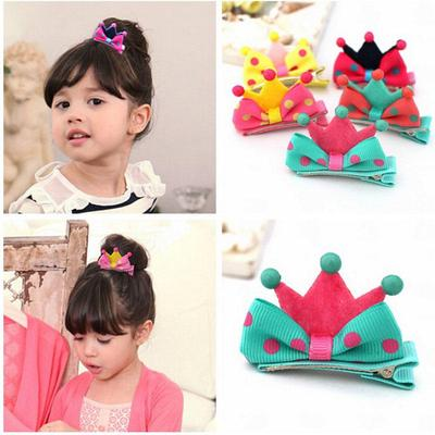 "6pcs 4/"" Baby Girls Hair Bow Flower Glitter Clip Barrettes Hairpin Teens Kids Set"