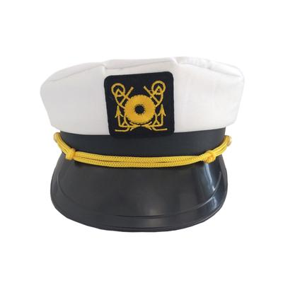 7edc7fd0d9ddc Adult Embroidery Navy Marines Admiral White Gold Cap Sailor Ship ...