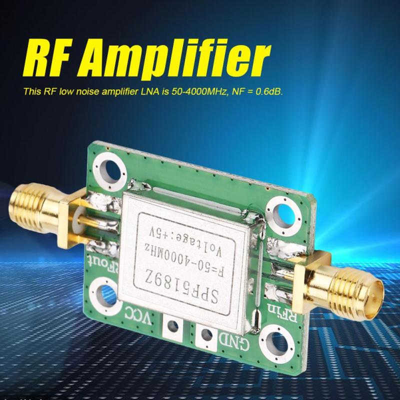 LNA 50-4000 MHz RF Low Noise Amplifier Signal Receiver SPF5189 NF = 0.6dB