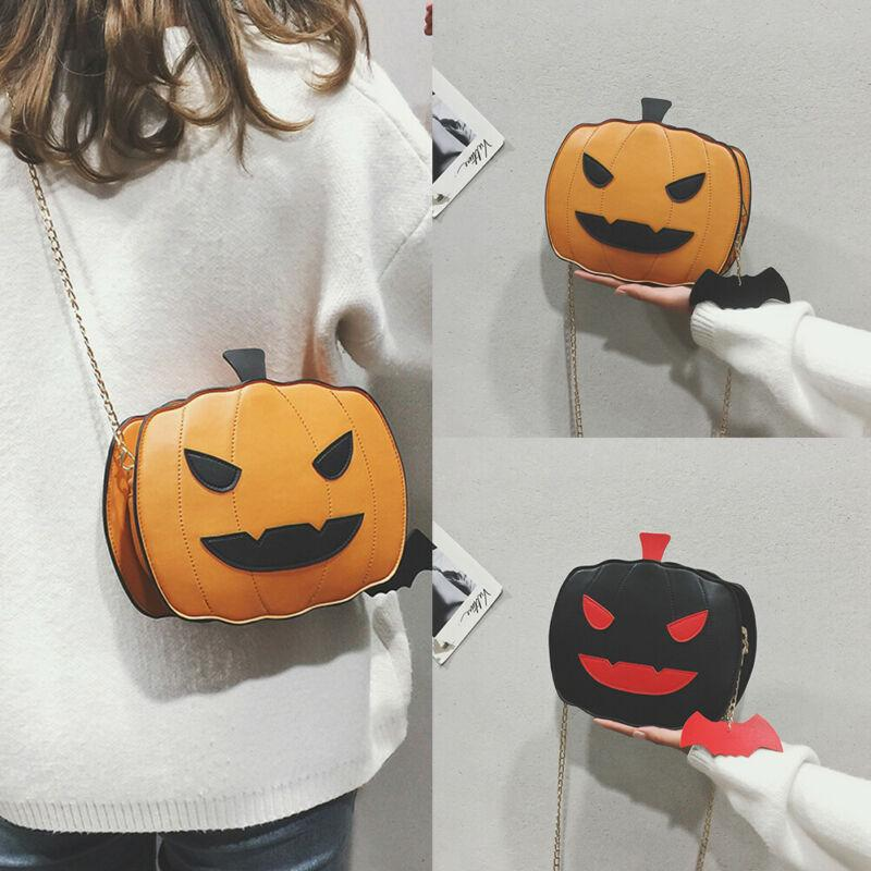New personality fashion leather creative pumpkin cluch purse shoulder bag
