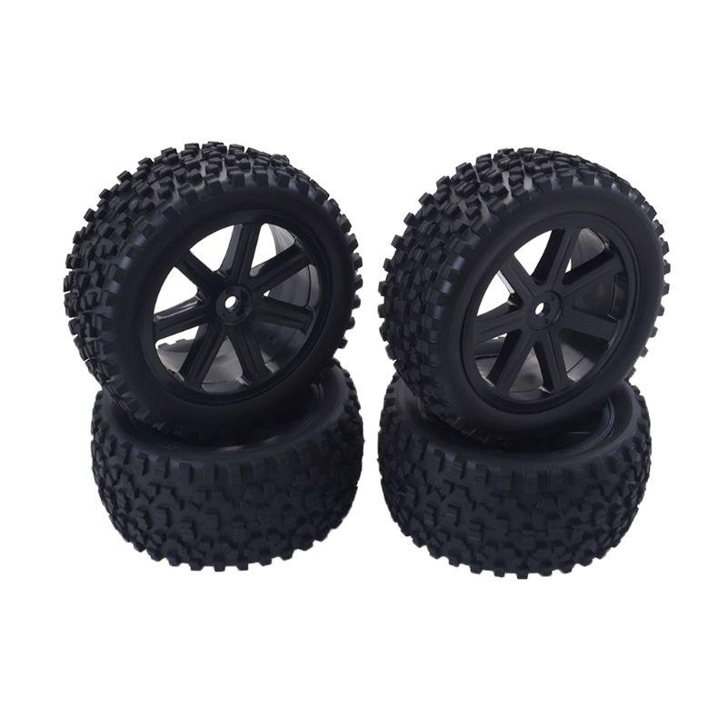 Pack of 8 RC Car 1:10 Scale Car Buggy Tires /& Wheels for Redcat HSP HPI