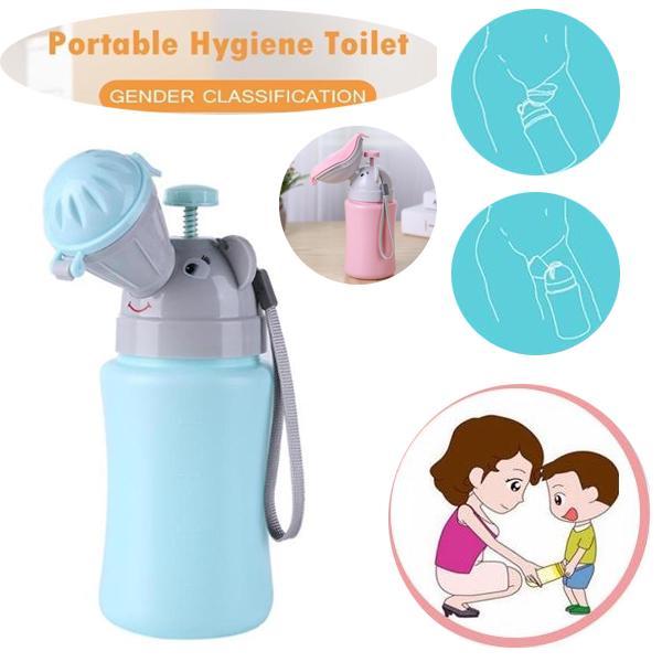 Portable Hygiene Toilet Urinal Kids Bottle Pot Car Travel Anti-leakage Potty