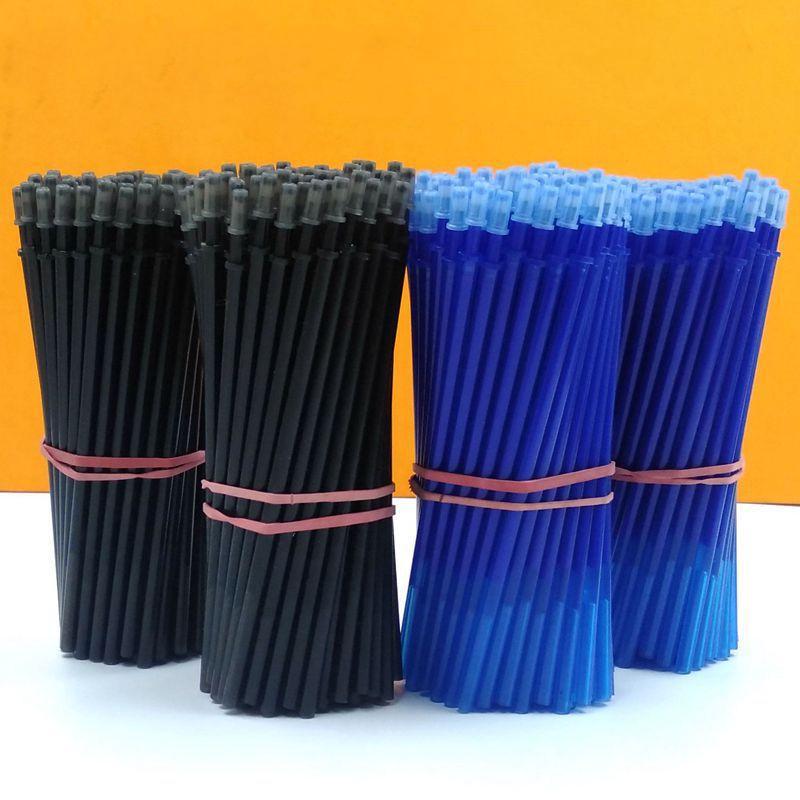 20Pcs/Set Erasable Pen Refill Washable Handle 0.5mm Gel Filling Blue Black ink for School Supplies