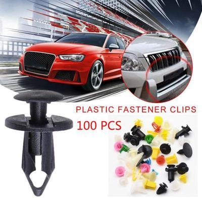 100Pcs//Set Plastic Trunk Screw Rivets Car Bumper Fender For Auto Fastener Clips