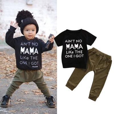 Adorable Toddler Kids Baby Girls Boy Fall Winter Clothes Print Sweatshirt Tops T-Shirt Pants Leggings 2Pcs Outfits Sets