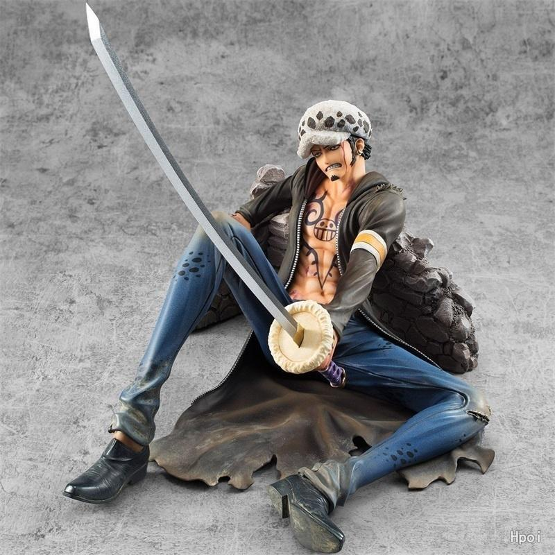 Anime One Piece Trafalgar Law Face Change PVC Action Figure Toy New In Box 28cm