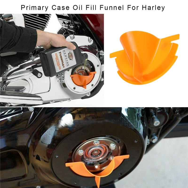 Motorcycle Primary Case Oil Fill Funnel For Harley Davidson