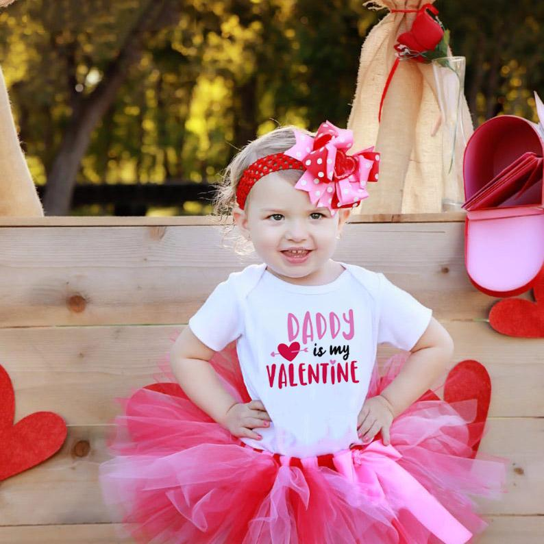 Newborn Infant Baby Bodysuit Mommy is My Valentine//Daddys Little Valentine Romper Outfit Cute Cotton Jumpsuit Clothes
