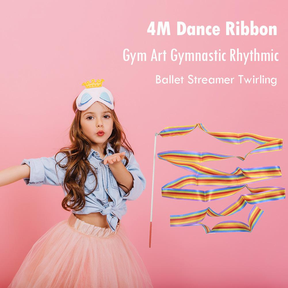 2f411ca5f Dança 4m fita ginásio arte ginástica rítmica Ballet girando flâmula  Stick-comprar a preços baixos na loja virtual Joom