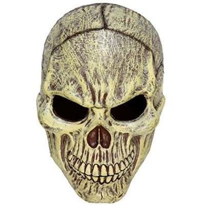 Skull Half Face Mask Accessory Skeletal Head Skeleton Halloween Pirate Fancy