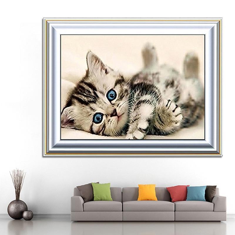 Freches Kätzchen Katze Diamond Stickerei 5D Diamond DIY Malerei ...