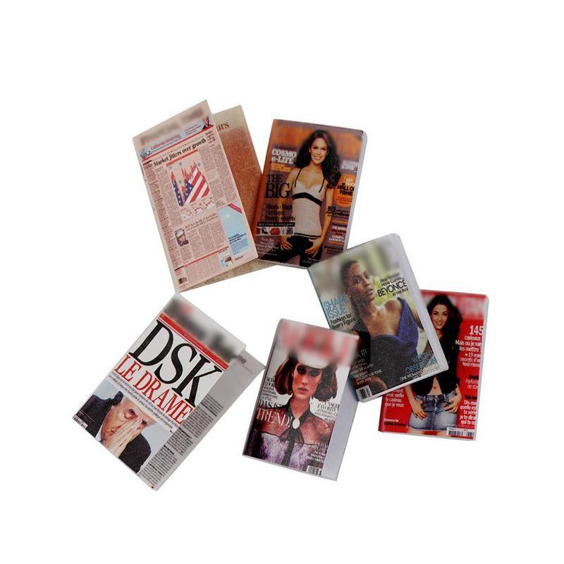 Dollhouse miniatura mini libro papel cuaderno revista hogar decoración regalo