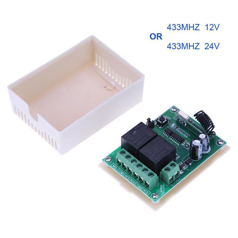 433MHZ 2 Relay Wireless Remote Control Switch+5pcs Two Keys Remote Controls //Neu