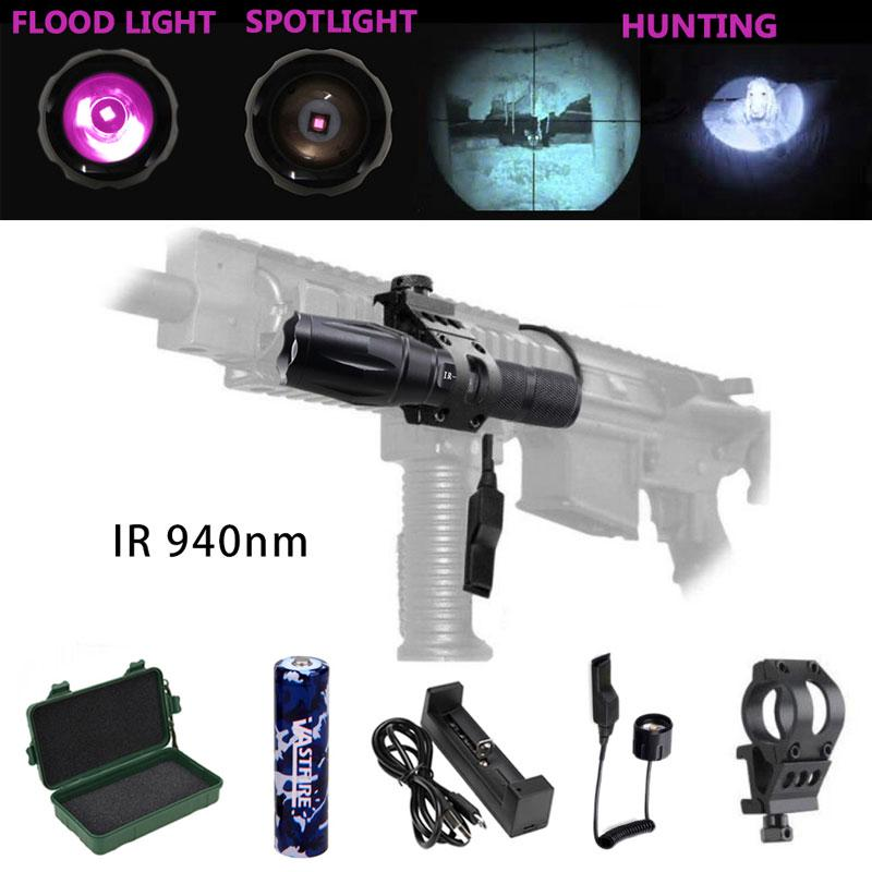 Details about  /500Yards ZOOM Infrared IR 850nm//940nm LED Hunting Light Night Vision Gun Torch