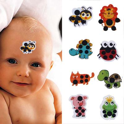 Kids Baby Care Cartoon Fever Detection Temperature Test Forehead Sticker Thermometer Thermometers