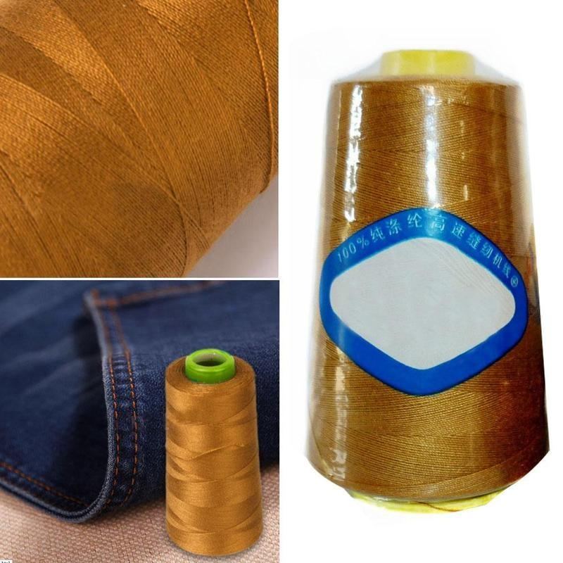 3000yds THICK Polyester THREAD fit Upholstry Jeans Bag Shoes Button Sewing