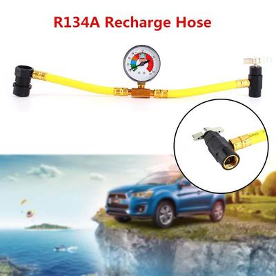 Car Air Conditioning Refrigerant Recharge Measuring Kit Hose Gauge for R134A