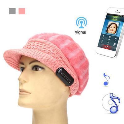 Wireless Bluetooth Winter Women Hair Hat Headphone Headset Cap With Speaker  Mic 66bd3a99da68