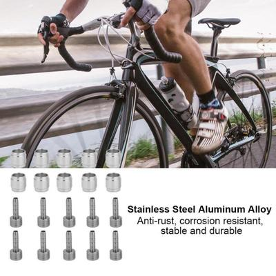 10PCS Valve Stem Rustproof Stain Steel Durable Bike Valve Stem for Mountain Bike
