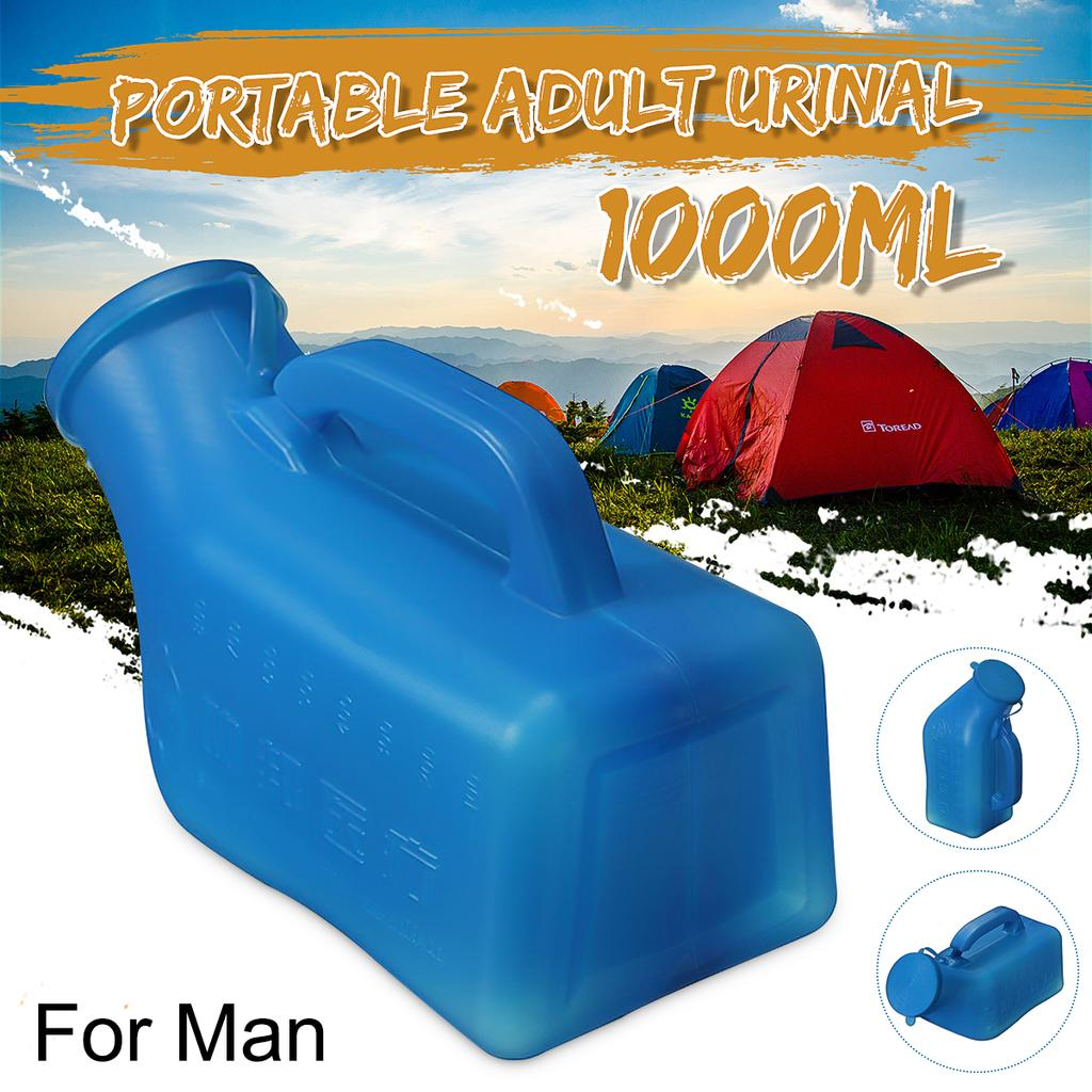 1x Portable Urinal Bottle Male Female Car Travel Camping Toilet Loo 1000ML