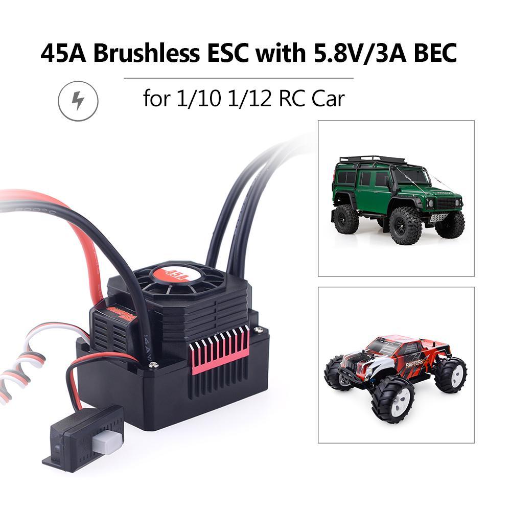 Surpass 3670 Brushless Motor+120A ESC+Program Card for RC 1//8 off-road Car Truck