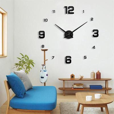 3D DIY Acrylic Modern Digital Wall Clock Creative Home Living Room Decoration