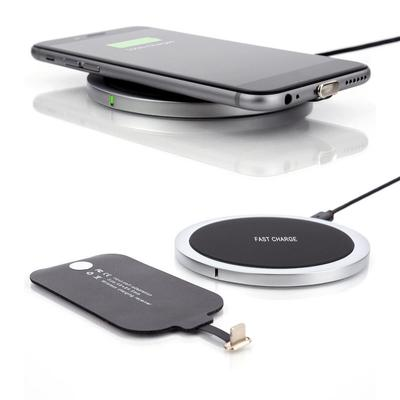 W6+ Ultra thin All metal QI Wireless Charger Support 5V 2A