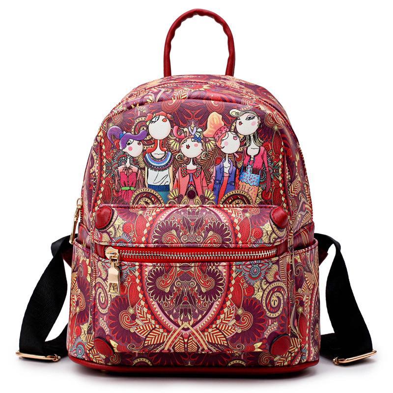 3f8384ff6d Women Forest bagpack Kavard green Backpack Mochila Feminina Escolar ...