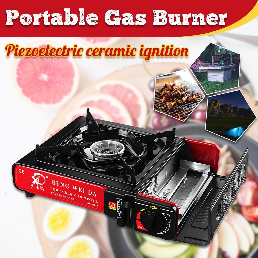 Portable Gas Propane Stove Outdoor Camping Butane Hiking Picnic Burner Cooking